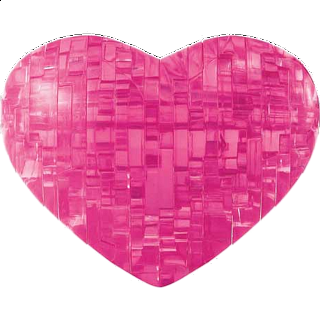3D Crystal Puzzle - Heart - Pink