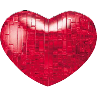 3D Crystal Puzzle - Heart (Red)