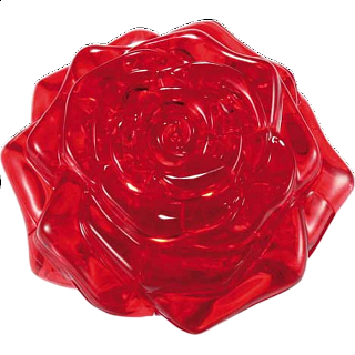 3D Crystal Puzzle - Rose (Red)