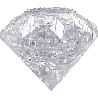 Puzzle Solution for 3D Crystal Puzzle - Gem - Diamond Clear