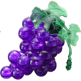 Puzzle Solution for 3D Crystal Puzzle - Grapes