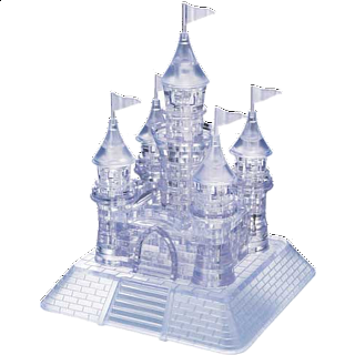 3D Crystal Puzzle Deluxe - Castle (Clear)