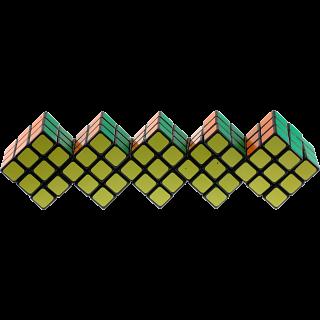 Quintuple 3x3 Cube