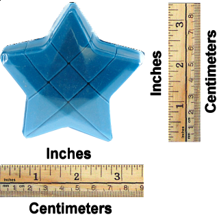 Star 3x3x3 Cube - Blue Body
