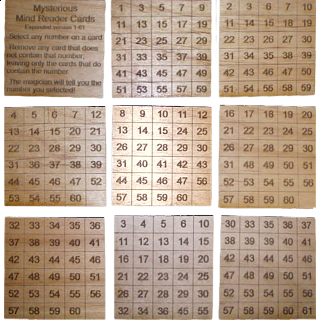 Mysterious Mind Reader Cards expanded set 61 cards