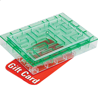 Puzzle Solution for Gift Card Maze - Green