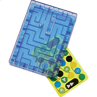 Puzzle Solution for Gift Card Maze - Blue