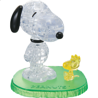 3D Crystal Puzzle - Snoopy Woodstock