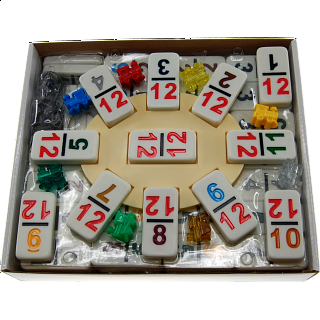 Mexican Train Dominoes Double 12 Professional Set - NUMBERS