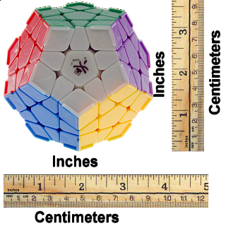 Megaminx I with corner ridges  - 12 solid color