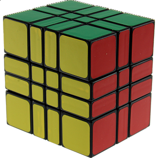 4x4x3 Camouflage Cube - Black Body