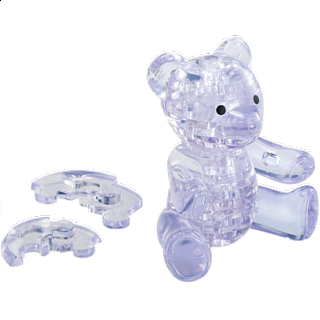 Puzzle Solution for 3D Crystal Puzzle - Teddy Bear - Clear