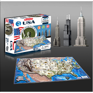 4D City Scape Time Puzzle - USA