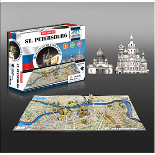 4D City Scape Time Puzzle - St. Petersburg
