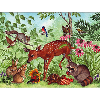 Deer Friends - Large Format