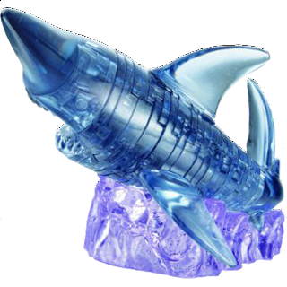 Puzzle Solution for 3D Crystal Puzzle - Shark