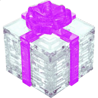 3D Crystal Puzzle - Gift Box - Pink