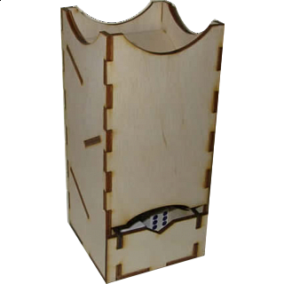 Mini Dice Tower - Birch
