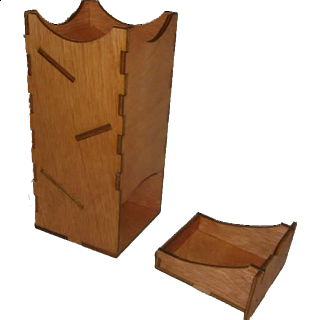 Mini Dice Tower - Wood