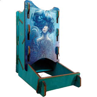 Knockdown Dice Tower - Elemental Water