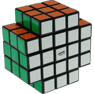 Calvin's 3x3x5 X-Shaped-Cube with Evgeniy logo - Black Body