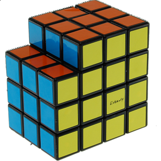 Calvin's 3x3x5 L-Cube with Evgeniy logo - Black Body