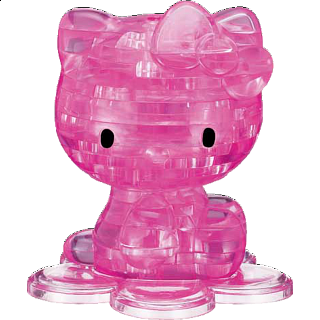 Puzzle Solution for 3D Crystal Puzzle - Hello Kitty (Pink)
