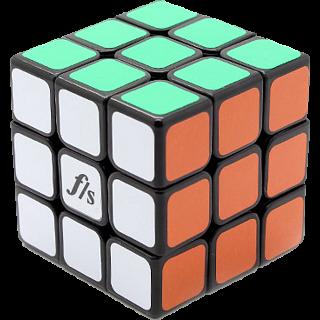 Shuang Ren Cube - 3x3x3 DIY Kit - Original Color with Black Caps