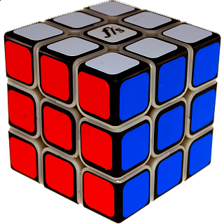 Shuang Ren Cube 3x3x3 - Original Plastic Color with Black Caps