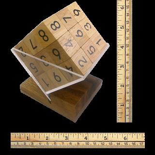 3D Wooden Sudoku Cube