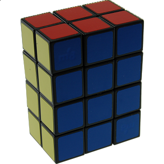 Fully Functional 2x3x4 Cube with Bandaged Mechanism - Black Body