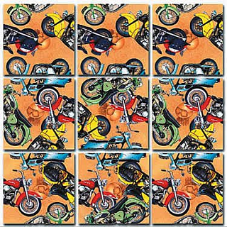 Puzzle Solution for Scramble Squares - Classic Motorcycles