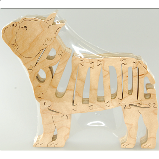 French Bulldog - Wooden Jigsaw