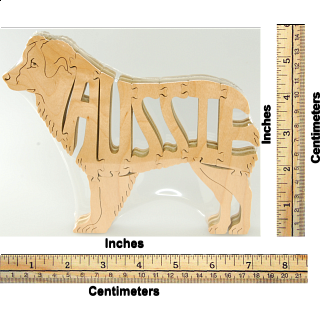 Aussie Dog - Wooden Jigsaw