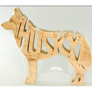 Husky Dog - Wooden Jigsaw