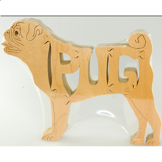 Pug Dog - Wooden Jigsaw