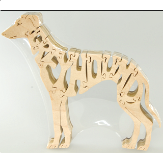 Greyhound Dog - Wooden Jigsaw