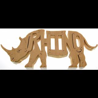 Rhino - Wooden Jigsaw
