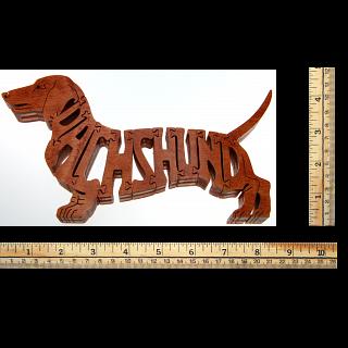 Dachshund Dog - Brown - Wooden Jigsaw