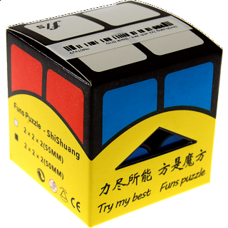 ShiShuang 2x2x2 with tiles - Black Body (50x50mm)
