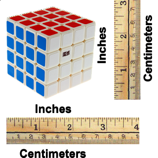 WeiSu 4x4x4 - White Body for Speed-cubing