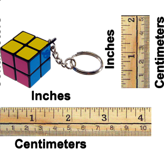 East Sheen 2x2x2 Mini Keychain - Assorted