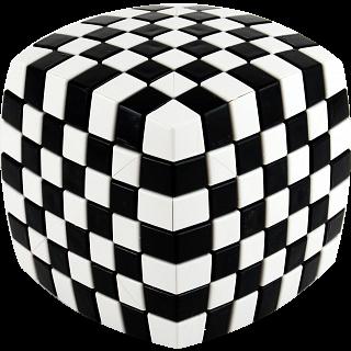 V-CUBE 7 (7x7x7): Illusion - Black and White