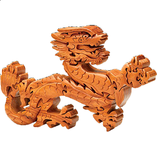 Wooden Dragon Sculpture Puzzle