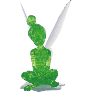 Puzzle Solution for 3D Crystal Puzzle - Tinker Bell