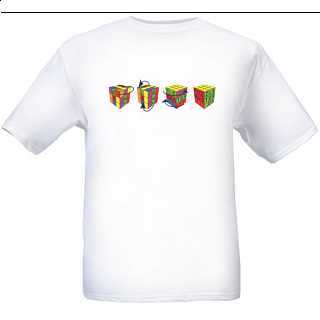 4 Cubes - White - T-Shirt