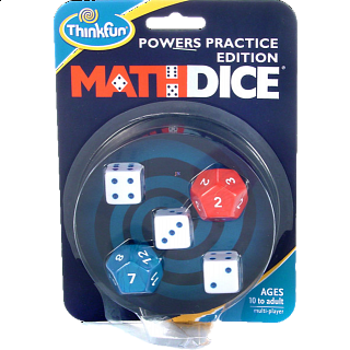 Math Dice: Powers Practice Edition