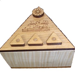 Pyramid Secret Lock Box