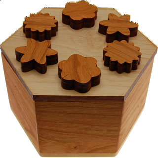 Hexagon Secret Lock Box
