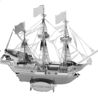 Puzzle Solution for Metal Earth - Golden Hind